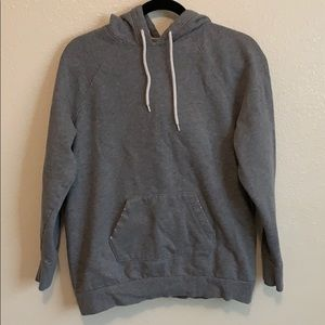 Women's small oversized grey distressed hoodie